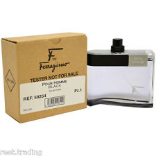Salvatore Ferragamo F Black 3.4 Eau De Toilette Spray Tester For Men In Box
