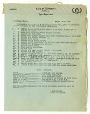 Crime Notice - Piedmont, California - List of Stolen Items - 1920