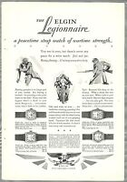 1928 ELGIN WATCH advertisement, LEGIONNAIRE Wristwatch, peacetime