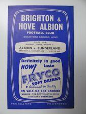 More details for brighton v sunderland | 1959/1960 | div. 2 | 2 jan 1960 | uk freepost