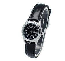 -Casio LTPV006L-1B Ladies' Strap Fashion Watch Brand New & 100% Authentic