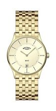 Rotary Gold Plated Strap Analog Wristwatches