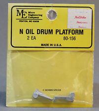MICRO ENGINEERING N SCALE OIL DRUM PLATFORM train metal scratch build ME 80-156