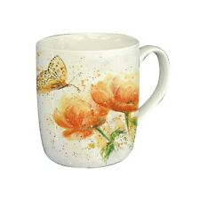 Bree Merryn Apricot Dream Butterfly Fine China Mug Gift Boxed