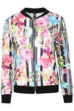 Unbranded Zip Waist Length Floral Coats & Jackets for Women