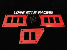 Lonestar Racing Rocker Switch Plate Kit Polaris Red Powdercoat RZR XP1000 XP1K
