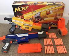 Nerf Elite N-Strike Alpha Trooper Bundle CS-18 CS-12 Boxed Ammo Drum Gun Bullets