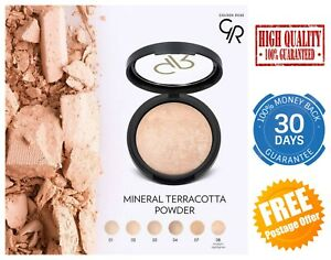Golden Rose Mineral Terracotta Powder Coverage Natural Velvety Smooth Finish