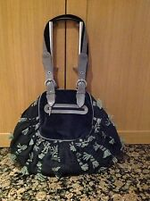 GREAT LUNA LLENA WOOL BLACK AND GREY SHOULDER BAG USED