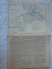 carte scolaire départementale (fin XIX ?) aquarellée / notice - MAINE et LOIRE