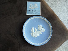Blue & White Jasperware Wedgwood Apollo Plate/1969
