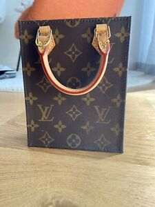 Auth Louis Vuitton Monogram Petit Sac Plat Shoulder Bag With Defects