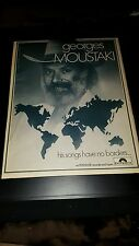 Georges Moustaki Rare Original Polydor Records Promo Poster Ad Framed!