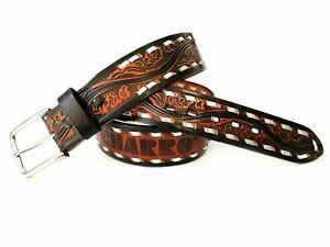 Cintura EL CHARRO CINTURA E312 stampa a fuoco sul retro borchie laterali