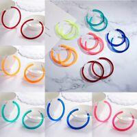 Fashion Geometric Colorful Round Dangle Hoop Earrings Women Wedding Jewelry Pary