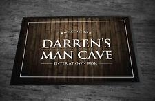 Personalised Bar Man Cave Wood effect beer Home Bar Pub  in-door mat 60 x 40 cm