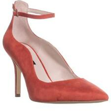 Nine West MARQUISA Pointed Toe Ankle Strap HEELS Red 8 UK