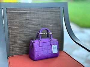 NWT COACH F55455 BABY BENNETT SATCHEL IN CROC EMBOSSED LEATHER $295