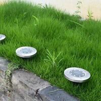 8 LED Solar Lawn Light Decor Stainless Steel Lawn Lamp Garden Waterproof Light