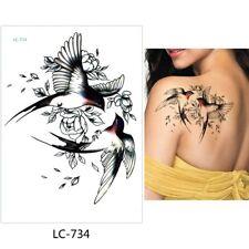 High Quality 21cm x 15cm Fake Temporary Tattoo Two Swallow  /-b110-/