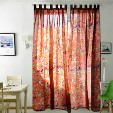 Frida Kahlo boho curtains home decor TWO PANELS Pure Fabric Panel Birds Flowers