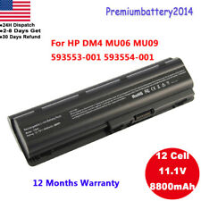 for HP Pavilion dv7 dv6 dv5 g6 g7 dm4 G72 593553-001 COMPAQ Battery 12 Cell USA