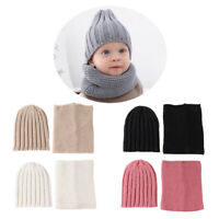 Kids Winter Hat Beanie Knit Cap & Scarf for Baby Boys Girls Toddler 0-3T