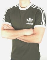 Adidas Originals Men's Trefoil California Tees Crew Neck T Shirt Khaki White