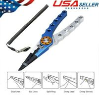 """Aluminum Fishing Pliers Saltwater Braid Cutter Hook Remover Tackle 6"""" Stainless"""