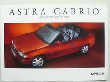 Prospekt Opel Astra Cabrio Bertone Edition, 1.1995, 2 Seiten