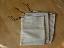 50 (6x8) Black Hem and Drawstring muslin bags