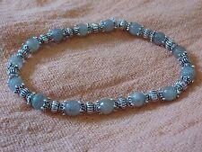 BRACELET LABRADORITE Perles 6mm a facettes& Perles etoile en argent du tibet