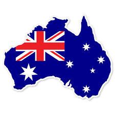 "AUSTRALIA Map Flag bumper sticker decal 5"" x 4"""