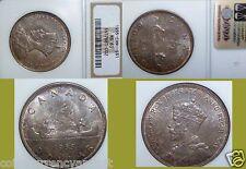 1935 Canada Silver Dollar $1 NGC MS 63