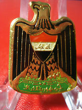 Iraq- Iraqi Armed Forces Beret Cap Color Eagle Pin Badge. From Iraq