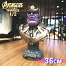 Avengers4 Infinity War Thanos Figure 1/2 Bust Resin Statue Figure 36CM IN STOCK