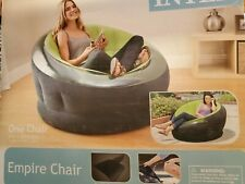 Intex Empire Inflatable Blow Up Chair, Lime Green, New - FREE SHIPPING