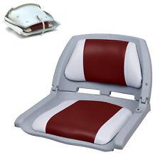 [PRO.TEC]® Bootssitz Bootsstuhl Steuerstuhl Anglerstuhl Klappbar Rot-Weiß-Grau