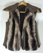 Cynthia Rowley faux fur vest Small