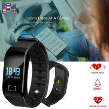 Smart Watch Band Heart Rate Blood Pressure/Oxygen Wristband Fitness Bracelet New