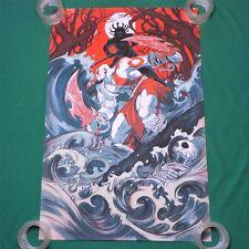 "God of War ""The Fall"" Variant Art Screen Print Poster by Nimit Malavia 24 x36"""