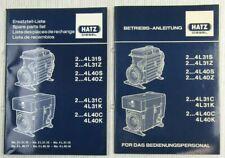 Hatz 2 3 4 L31 L40 S Z C K Dieselmotor Ersatzteilliste Bedienungsanleitung 86/87