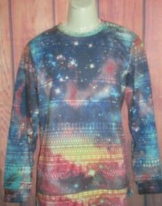 MENS ON THE BYAS GALAXY NEBULA SWEATSHIRT T-SHIRT SIZE M