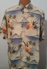 Campia Moda  Fish Floral Hawaiian Shirt Mens Size Large L