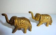 2 Brass Vintage Decorative Elephant figures incense holder home gifts christmas