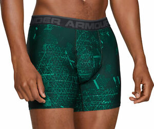 Under Armour Original Series Mens Boxer Short 2 Pack Printed Boxer Jock Green UA