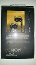 "Denon AH-C360 In-ear Headphones ""Acoustic Luxury"" (Black)"