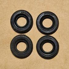 Original Dinky Toy car tyres, Dunlop, 17mm x 4