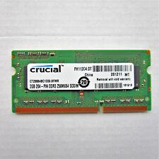 Crucial 2GB PC3-10600 DDR3 256Mx64 204-Pin SODIMM RAM CT25664BC1339.8FMR