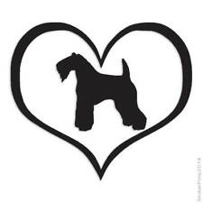 Kerry Blue Terrier Dog Heart Decal Sticker Choose Color + Large Size #lg1477